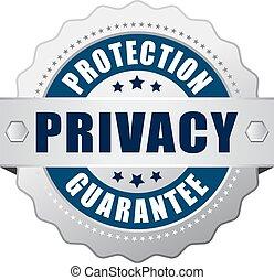 privatleben, schutz, ikone, garantie