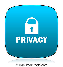 privatliv, blå, ikon
