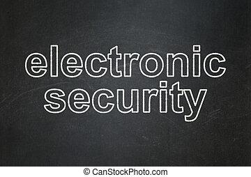 privatliv, concept:, elektroniske, garanti, på, chalkboard, baggrund