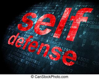 privatliv, själv försvar, bakgrund, digital, concept: