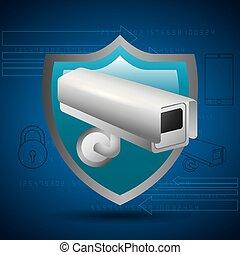 privecy, escudo, proteção, vigilância, segredo, câmera