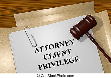 privilège, attorney-client, concept