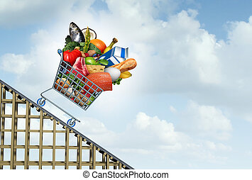 prix, épicerie, diminution