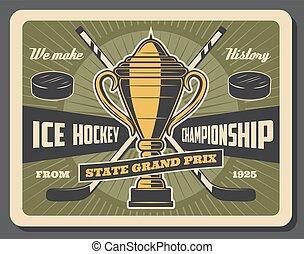 prix, campeonato, hockey, hielo, magnífico