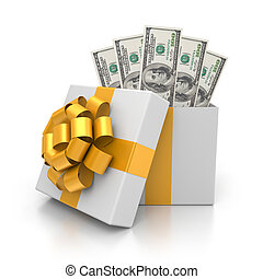 Prize - Business concept. Isolated on white