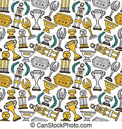 Prize seamless pattern