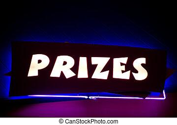 """prizes"", ネオン 印"