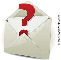 prośba, wysyłać, email