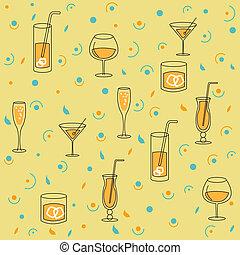 pro, alcool, fondo, seamless