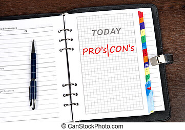 Pro an Contra message on today page