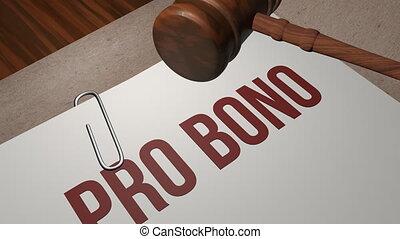 Pro bono legal concept shot clip
