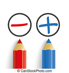Pro Contra Red Blue Pens