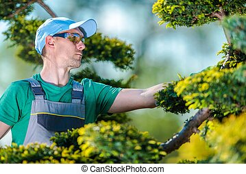 Pro Gardener at Work