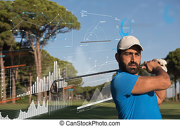pro golf player shot the ball