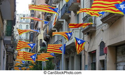 Pro Independence Catalonian Flags - Secessionist...