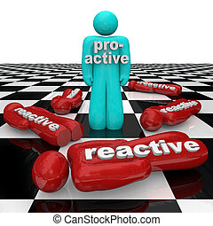 proactive, persona, gana, contra, reactivo, inactividad,...