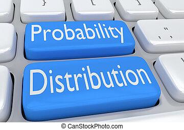Probability Distribution concept - 3D illustration of ...