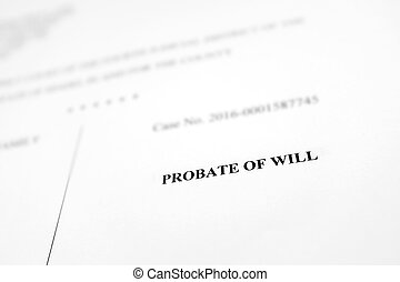 Probate of Will Legal Document - Court Document Probate of ...