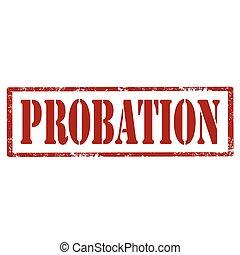 Probation-red stamp