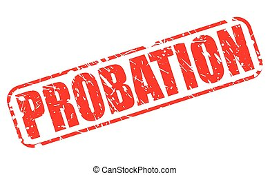 PROBATION red stamp text on white