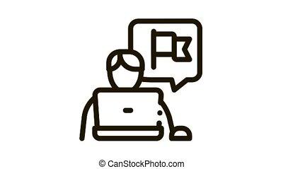 probation trainee icon outline illustration