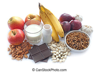 Probiotic (or prebiotic) rich foods including pulses, nuts, fruit and milk products, good for immunity and the gut