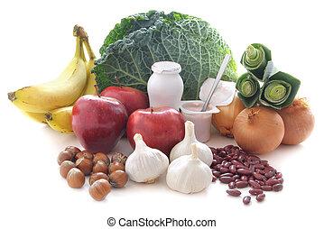 probiotic, voedsel, (prebiotic), dieet
