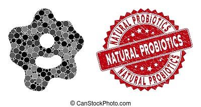 probiotics, grunge, collage, ameba, natural, sello
