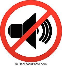 probition, mute., orador, signo., silencio