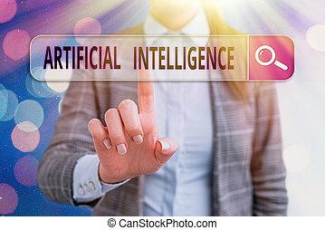 problème, fonction, écriture, intelligence., aimer, solving., texte, signification, cognitif, concept, écriture, machine, artificiel, copie