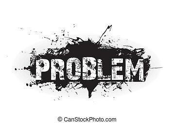 problème, grunge, icône