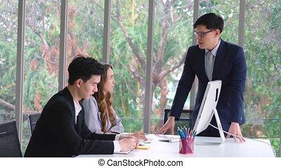 problème, personne, réunion, travail, groupe, conflit, business, fâché