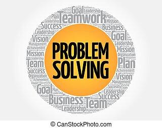 problème résout, cercle