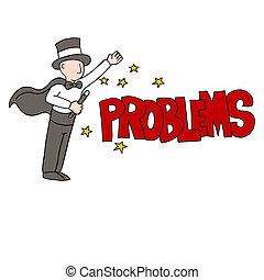 problème résout, magicien