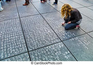problème, trottoir, math