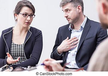 problèmes, autre, couple, blâmer, mariage