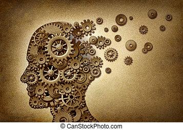 problèmes, démence, cerveau