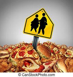 problèmes, enfants, régime