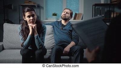 problèmes, famille, émotif, résoudre, portion, psychologue