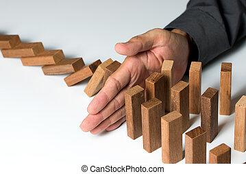 probléma kibogoz, kockáztat, vezetőség, vagy, biztosítás, oltalom, fogalom