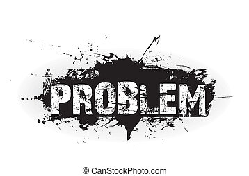 probleem, grunge, pictogram