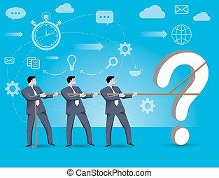 probleem oplossen, complex, samen, team