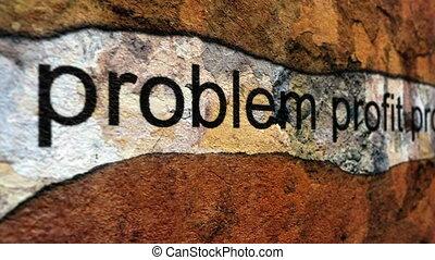 probleem, winst, voortgang, grunge, concept