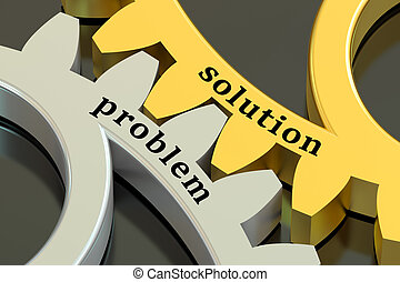 problem and solution concept on the gearwheels