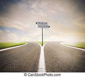 Problem and solution way. Choose the right way