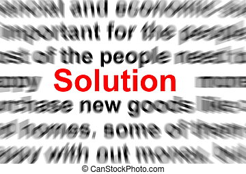 problem and solution words showing business concept