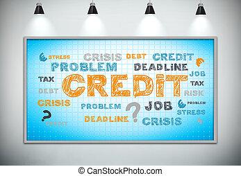 problem credit - plasma panel with problem credit concept,...