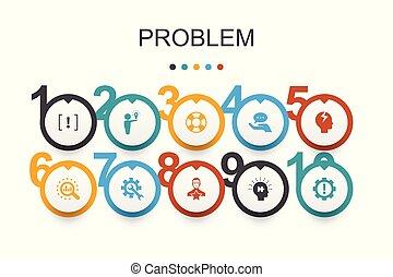 problem Infographic design template. solution, depression, ...