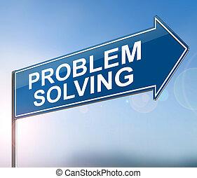 problem, lösen, concept.