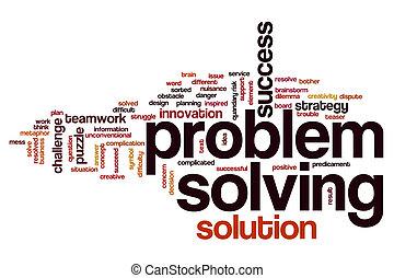 problem, lösen, wort, wolke